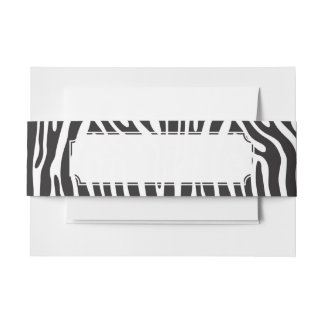 Animal Print Invitation Belly Band