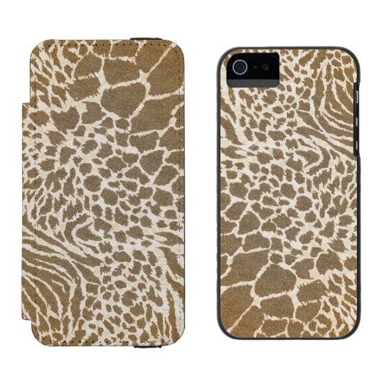 Animal Print iPhone5 Wallet Case Incipio Watson™ iPhone