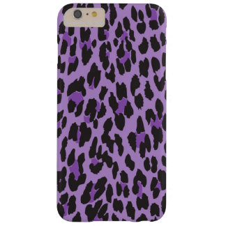 Animal Print, Leopard Background - Purple Black Barely There iPhone 6 Plus Case