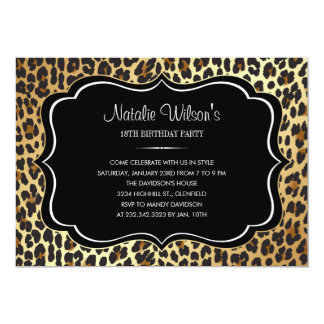 Animal Print Leopard Invitations