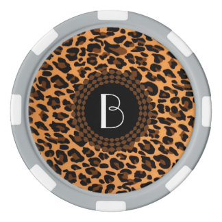 Animal Print Leopard Pattern Poker Chips