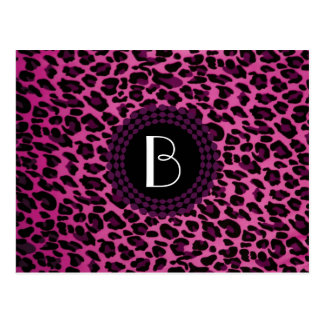 Animal Print Leopard Pattern Postcard