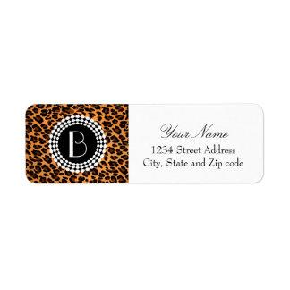 Animal Print Leopard Pattern Return Address Label