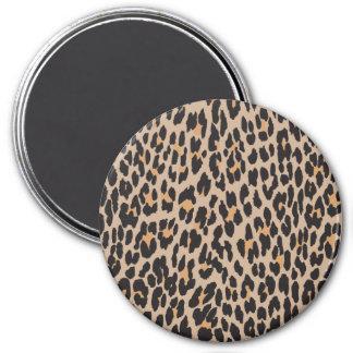 Animal Print, Leopard Spots - Brown Black 7.5 Cm Round Magnet