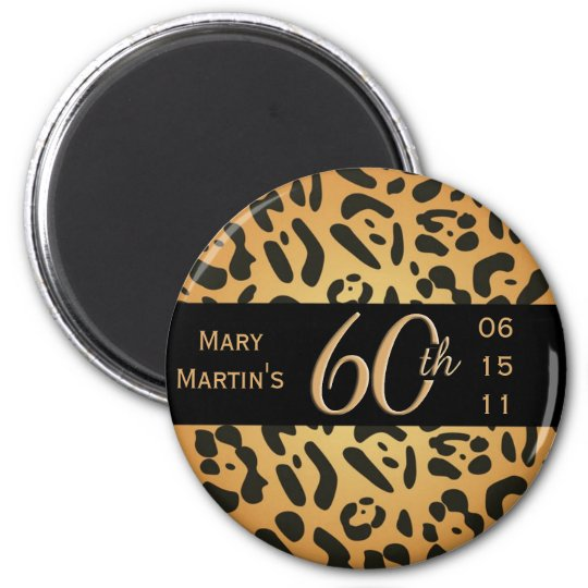 Animal Print Magnet - 60th Birthday