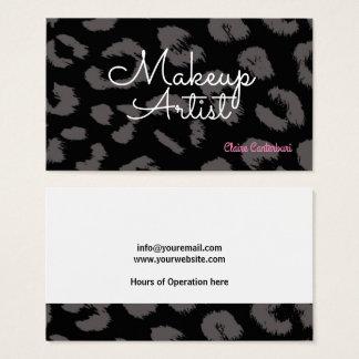 Animal Print Makeup Artist Business Card