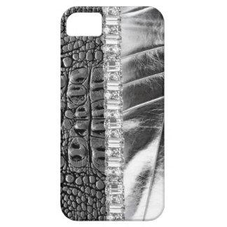 Animal Print Metallic Leather Rhinestone IPhone4 iPhone 5 Cover