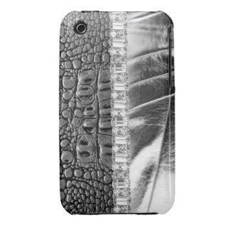 Animal Print Metallic Leather Rhinestone IPhone iPhone 3 Case-Mate Cases