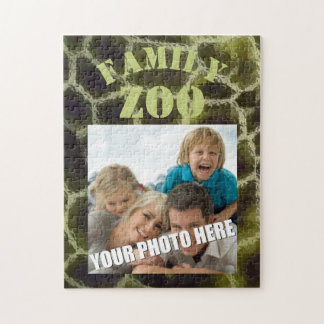 Animal Print Olive Green Jigsaw Puzzle