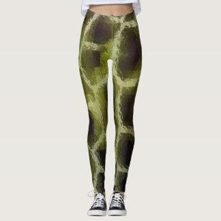 Animal Print Olive Green Leggings