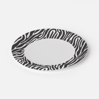 Animal Print Paper Plate