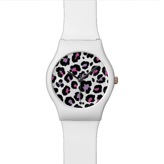 Animal Print Pattern Colourful Design Watch