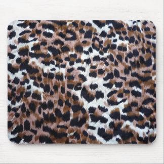 Animal print pattern design mouse pad