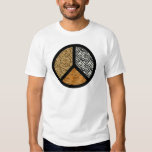 Animal Print Peace Sign T Shirts