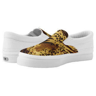 Animal Print Slip On Canvas Shoes