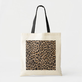 Animal Print Spotted Leopard - Brown Black Tote Bag