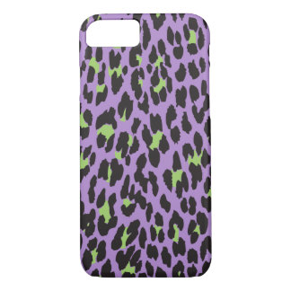 Animal Print, Spotted Leopard - Purple Green iPhone 8/7 Case