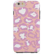 Animal Print, Spotted Leopard - Purple Pink Tough iPhone 6 Plus Case