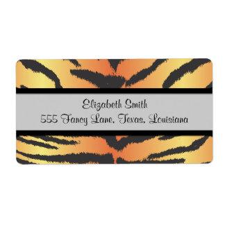 Animal Print, Tiger Stripes - Black Orange