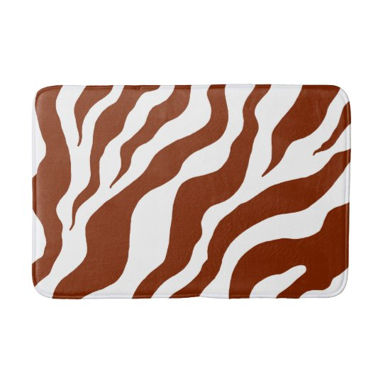 Animal Print Zebra Bath Mat Bathroom Rug Bath