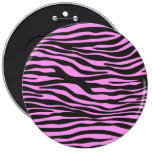 Animal Print, Zebra Stripes - Black Pink Pins