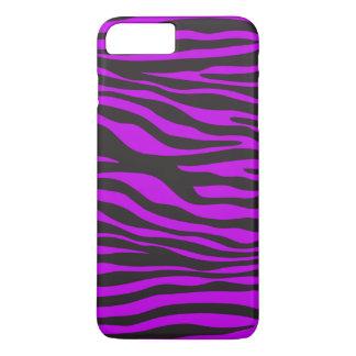 Animal Print, Zebra Stripes - Black Purple iPhone 7 Plus Case