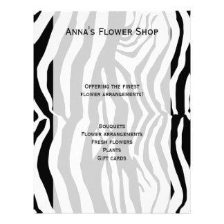 Animal Print, Zebra Stripes - Black White Flyer Design