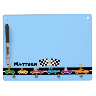 Animal Racers Dry Erase Board