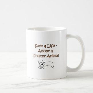Animal Rescue Adoption Shelter Cat Coffee Mug
