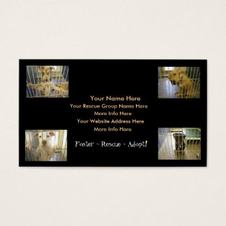 Animal Rescue Business Cards (Foster~Rescue~Adopt)
