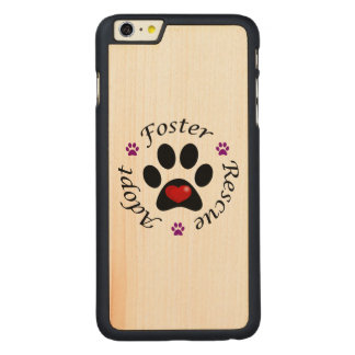 Animal Rescue Carved® Maple iPhone 6 Plus Case