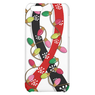Animal Rescue Christmas Lights Ribbon Cover For iPhone 5C