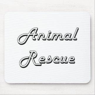 Animal Rescue Classic Retro Design Mouse Pad