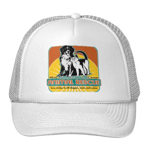 Animal Rescue Dog and Cat Mesh Hats