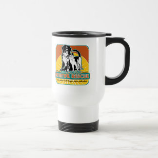 Animal Rescue Dog and Cat 15 Oz Stainless Steel Travel Mug