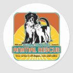 Animal Rescue Dog and Cat Round Stickers
