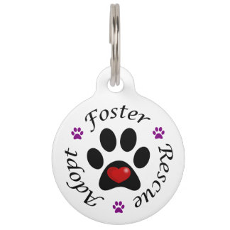 Animal Rescue Dog Tag