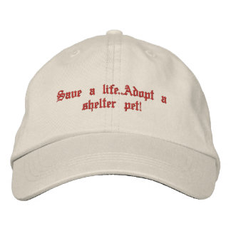 Animal rescue embroidered baseball cap