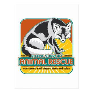 Animal Rescue Fox Postcard