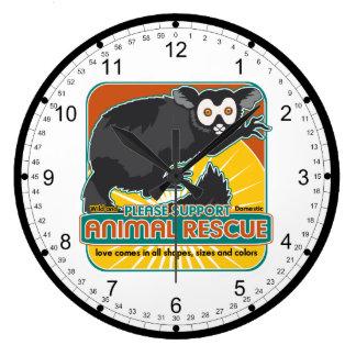 Animal Rescue Lemur Clocks