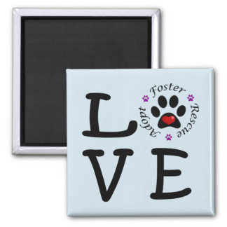 Animal Rescue Love Square Magnet