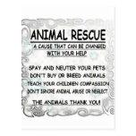 Animal  Rescue Postcard