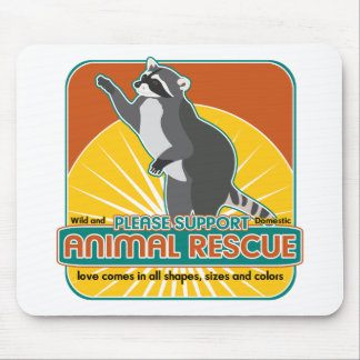 Animal Rescue Raccoon Mouse Pad