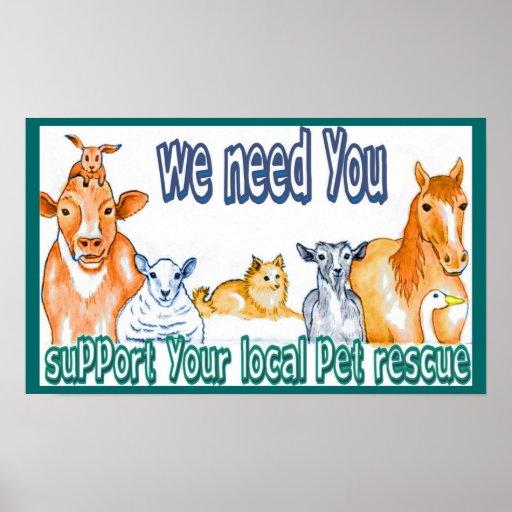 Animal Resues Poster
