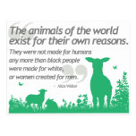 Animal Rights - Alice Walker quote design Post Card