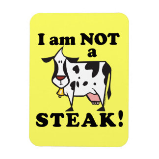 Animal Rights Anti Steak Message Rectangular Magnets