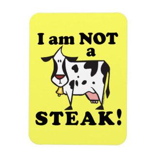 Animal Rights Anti Steak Message Rectangular Photo Magnet