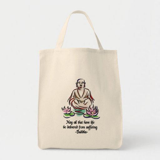 Animal Rights Buddha Quote Bags