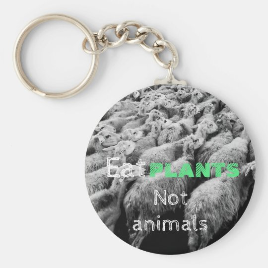 Animal rights, key ring with sheep, for vegetarian