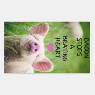 Animal rights sticker. rectangular sticker